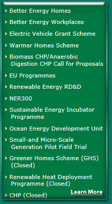 Better Energy Homes Scheme in Laois, Kilkenny, Carlow, Offaly, South Kildare and North Tipperary. Grants are available for the following works which must be completed by a registered SEAI contractor. Heating Controls with Boiler (Oil or Gas) Upgrade and Solar Heating.